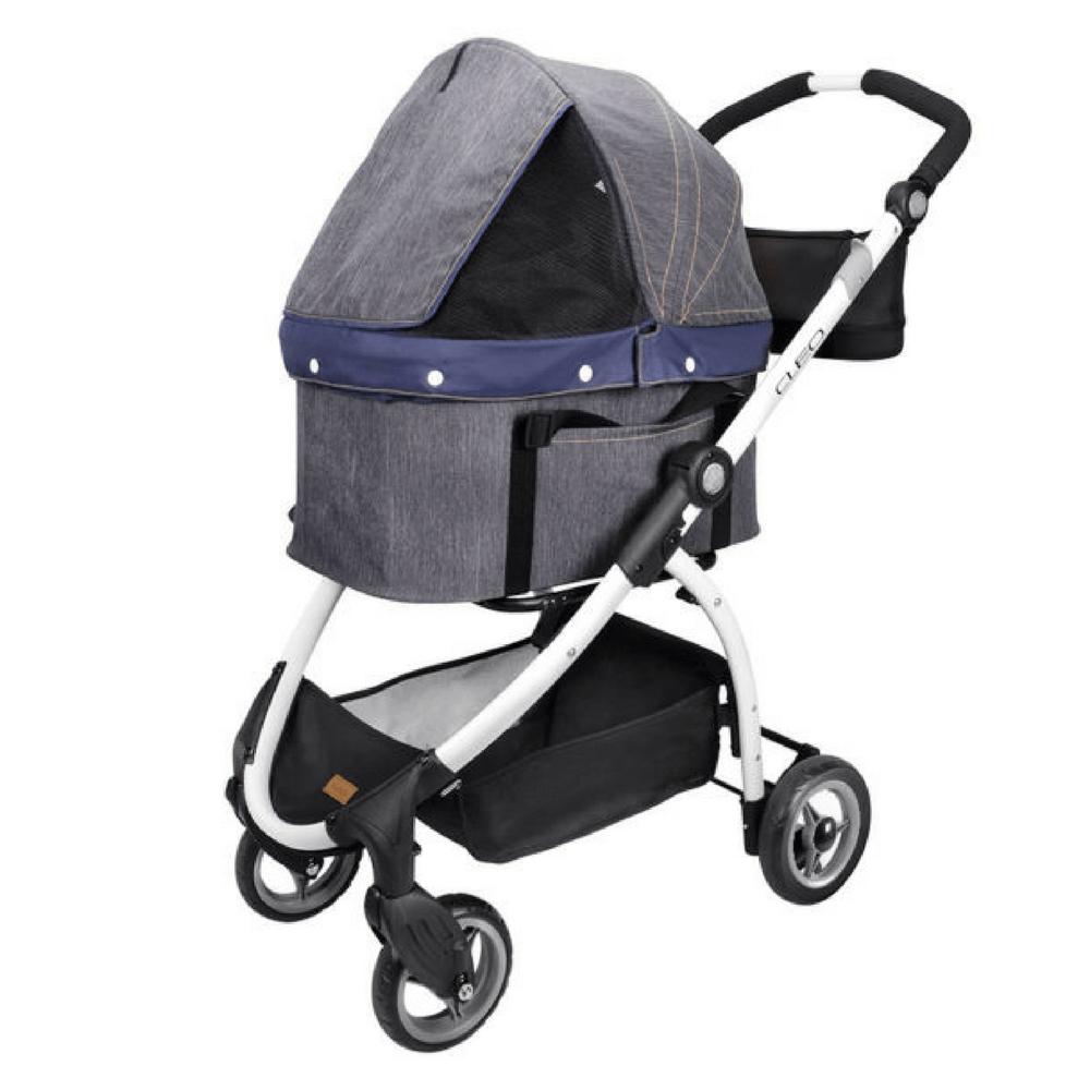 Cleo Denim Express Buggy Pet Stroller System by Ibiyaya
