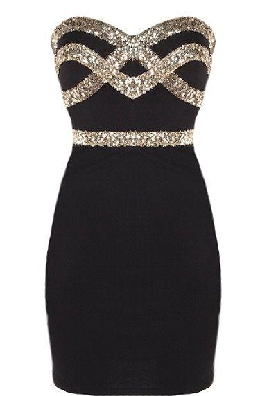 c14b9577 little black dress. | Fashion | Diamond dress, Black sparkle dress ...