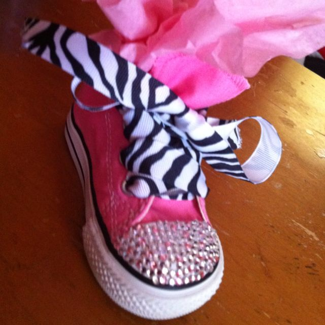 I spruced up some plain converses for my nieces first bday!