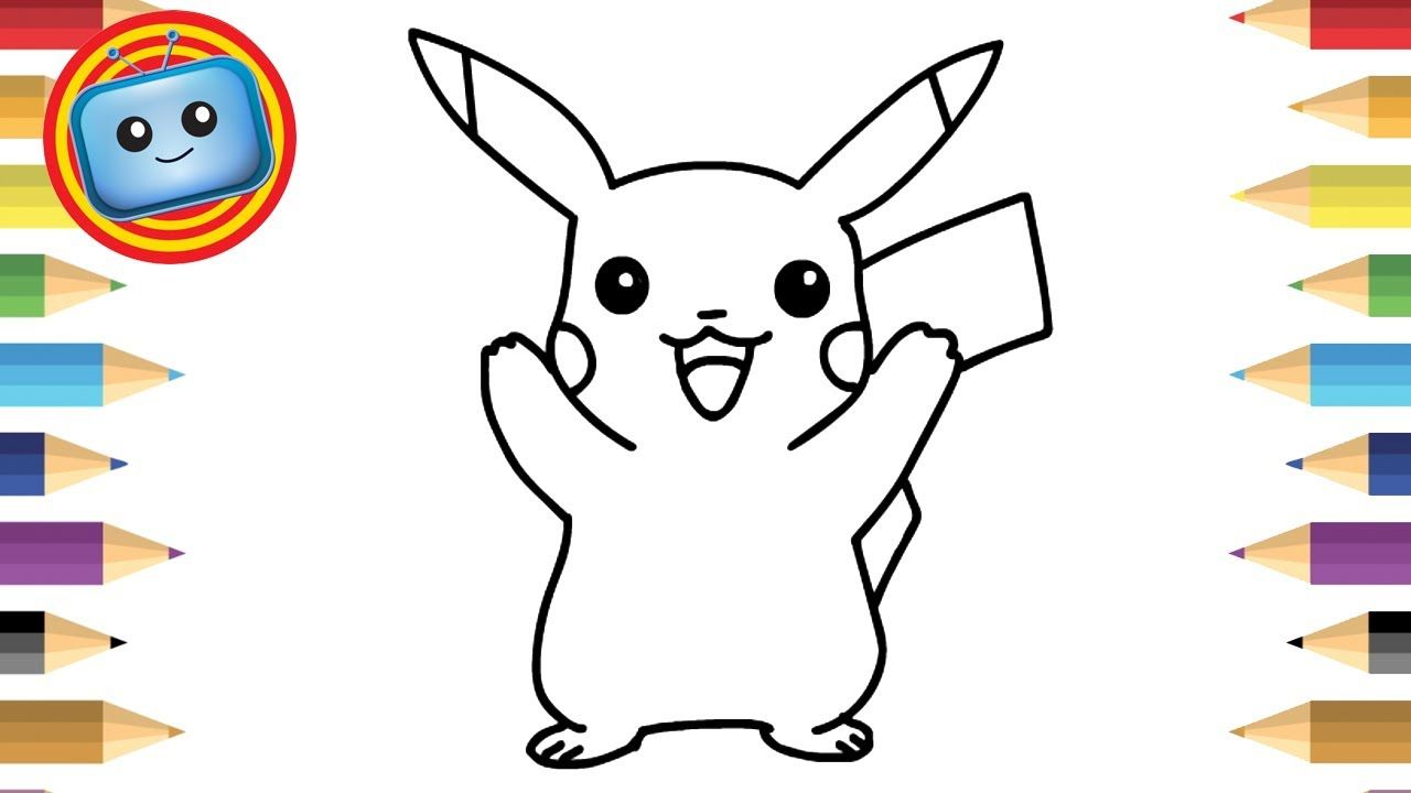 drawing game text How To Draw Pokemon Pikachu Simple Drawing Game Animation