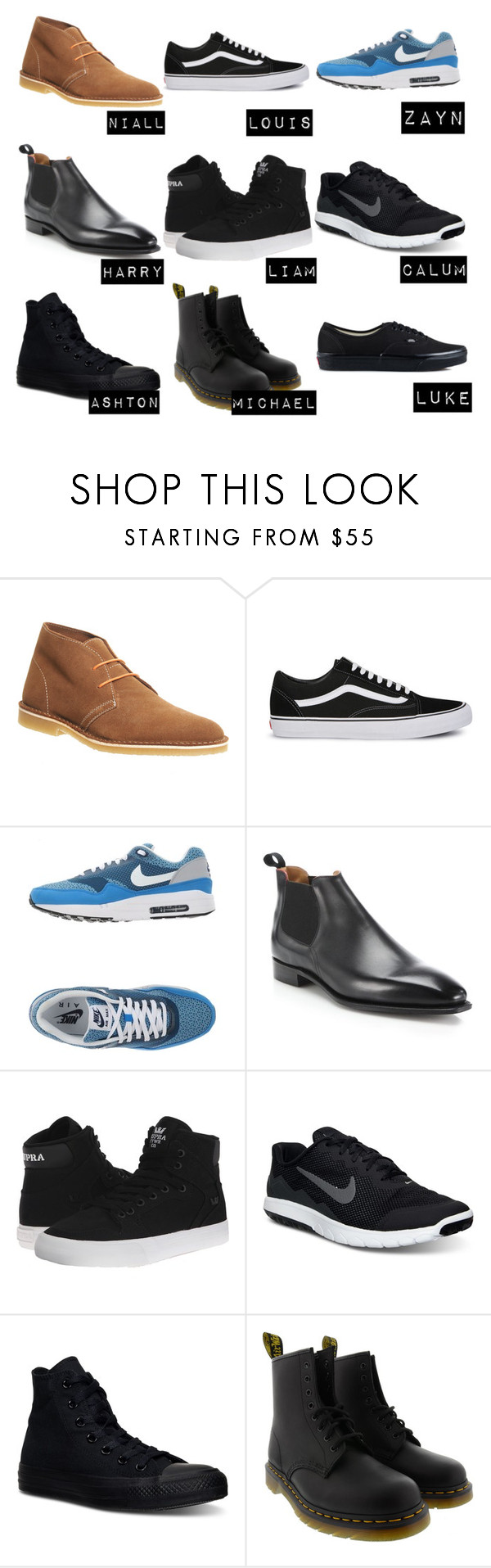 1d And 5sos Shoes By Hollynagle On Polyvore Featuring Office Vans Nike