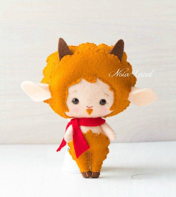 Greek Mythology. Faun. PDF pattern. Felt doll | Felt | Pinterest ...