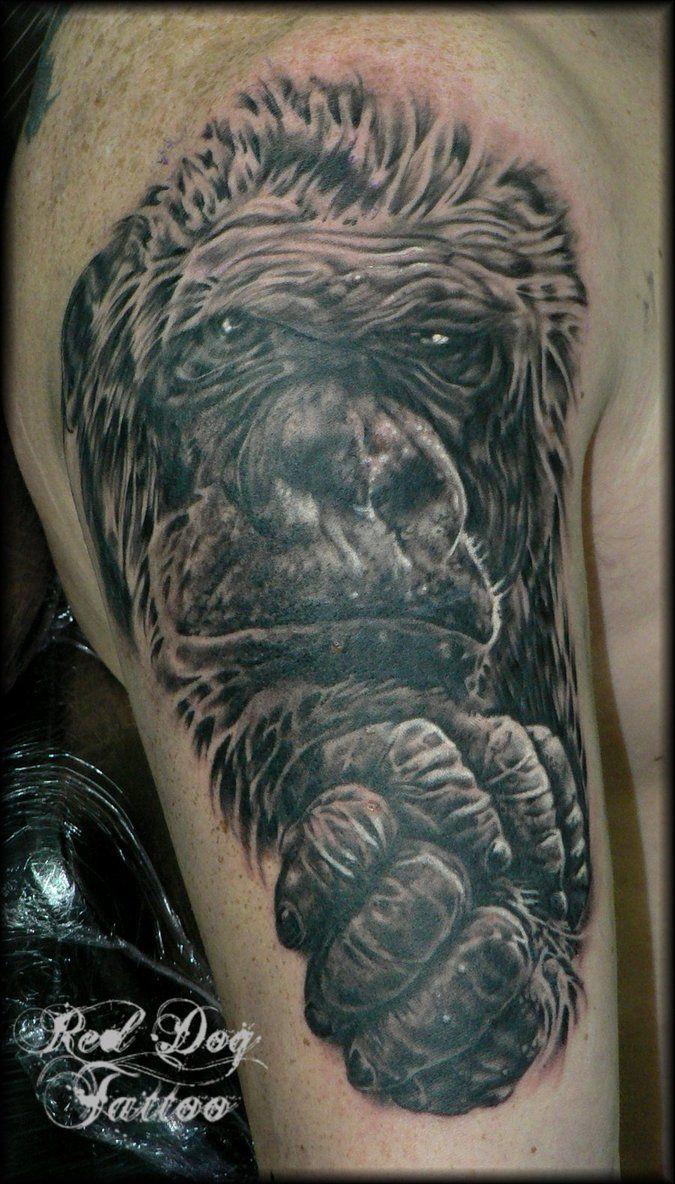 Gorilla Tattoo Designs for Pinterest