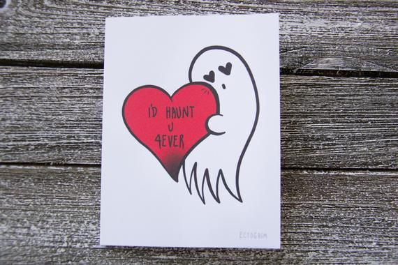 "Goth Love and Romance Greeting Card with Quote, ""I'll ..."