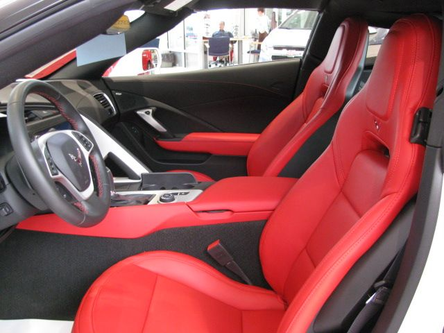 Adrenaline Red Leather Interior With Heated And Cooled Bucket Seats Corvette Stingray Chevrolet Corvette Stingray Chevrolet Corvette