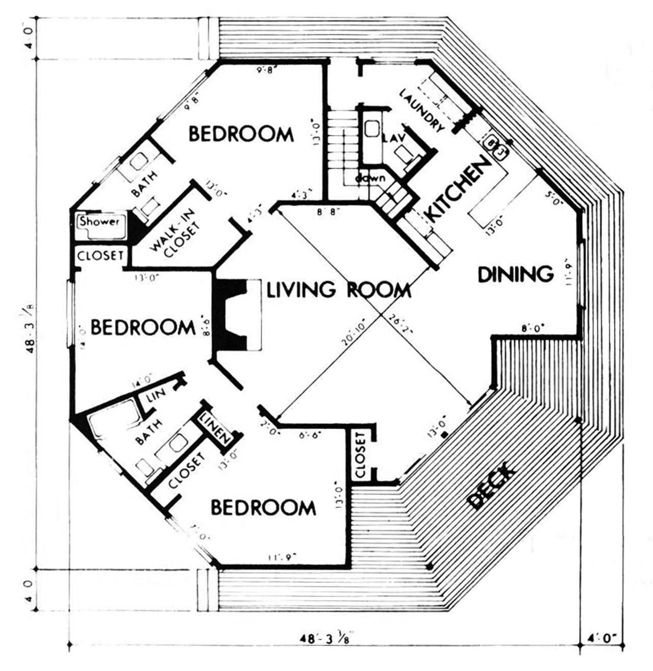 8 Sides Octagon House Hexagon House Beach House Floor Plans Unique House Plans