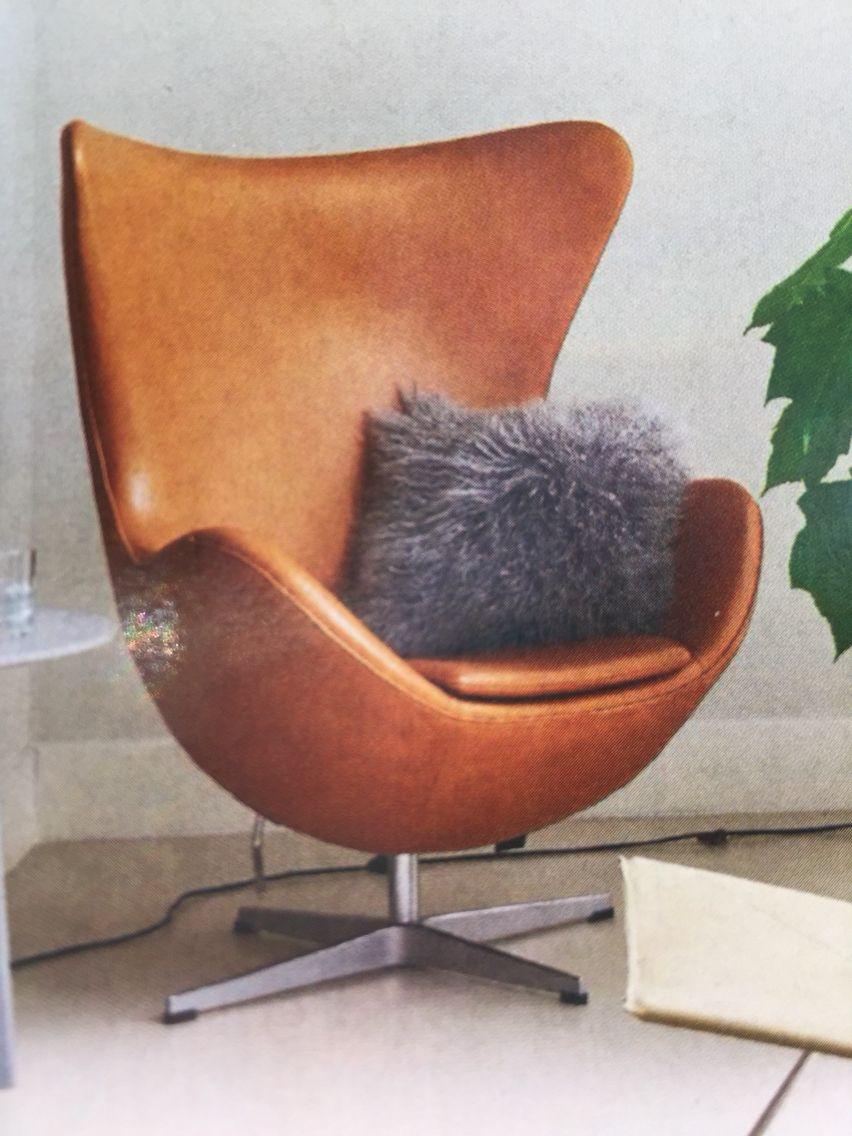 Egg Chair (Arne Jacobsen) in cognac!