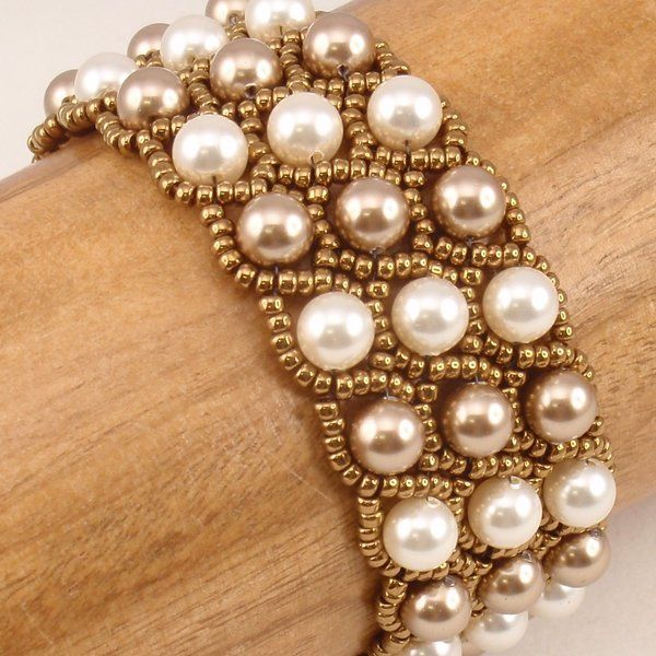 Beading Tutorial for Astral Rococo Bracelet, jewelry pattern, beadweaving tutorials, instant download, PDF