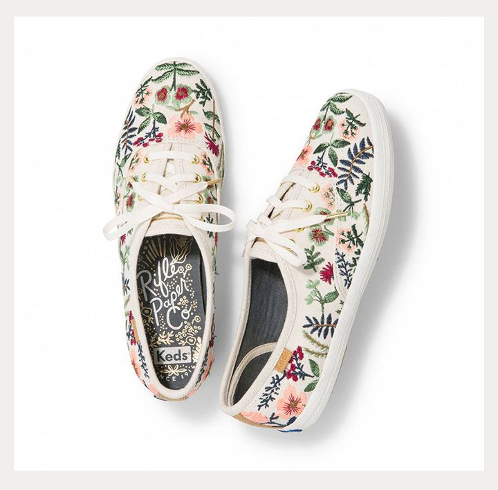 37adb08b647 New for Fall Brides ~ Keds X Rifle Paper Co. s Ornate Kicks ~ Embroidered  Herb Garden Champion Sneaker