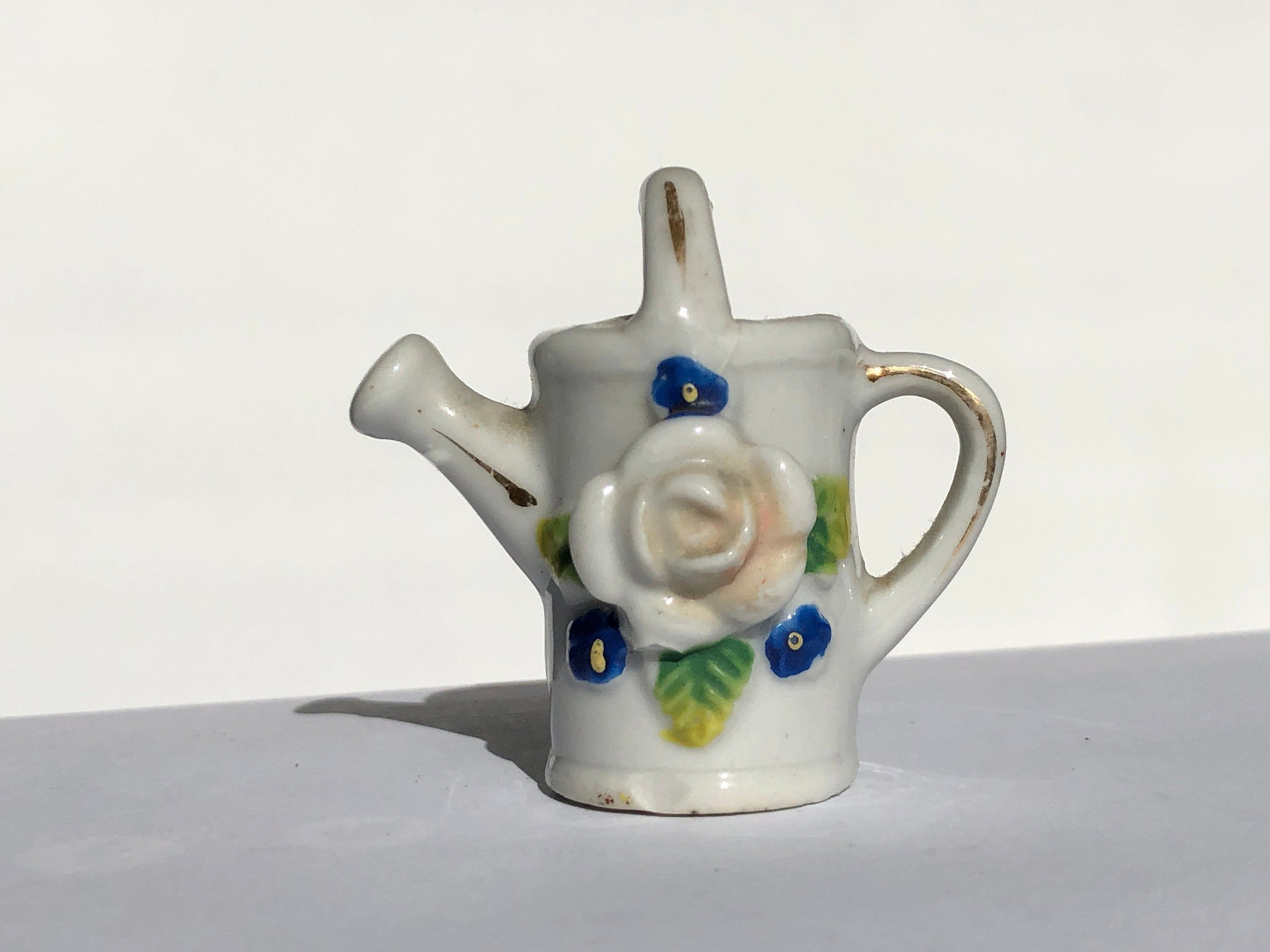 Vintage Ceramic Made in Occupied Japan Floral Miniature Watering Can Garden Theme Porcelain Trinket Knick Knack Collectible Post WWII #knickknack Vintage Ceramic Made in Occupied Japan Floral Miniature Watering Can Garden Theme Porcelain Trinket Knick Knack Collectible Post WWII #knickknack