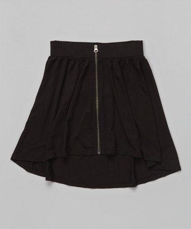 af15f6a6b Look at this  zulilyfind! Black Zipper Circle Skirt - Toddler ...