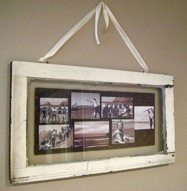 Multi Aperture Cadre Photo Collage Shabby Chic Bois Photo maison famille decor