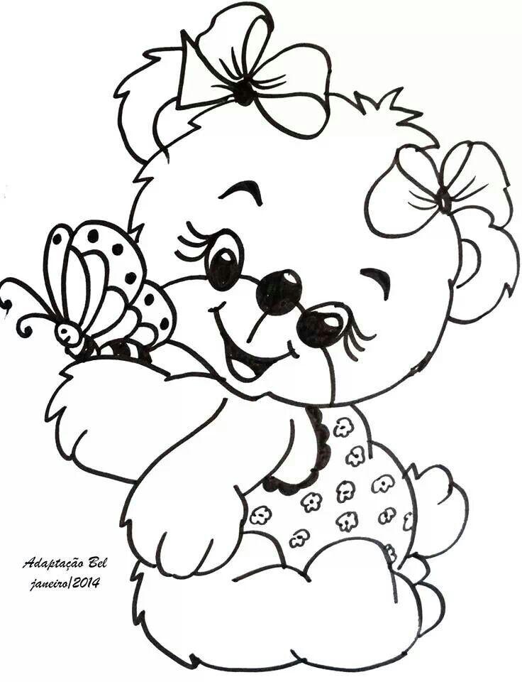 Bear Cute Ursinha Pinturas De Ursos Desenho De Urso E Riscos Para Pintura