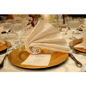Wedding Napkin Fold Caribbean Caterers Project