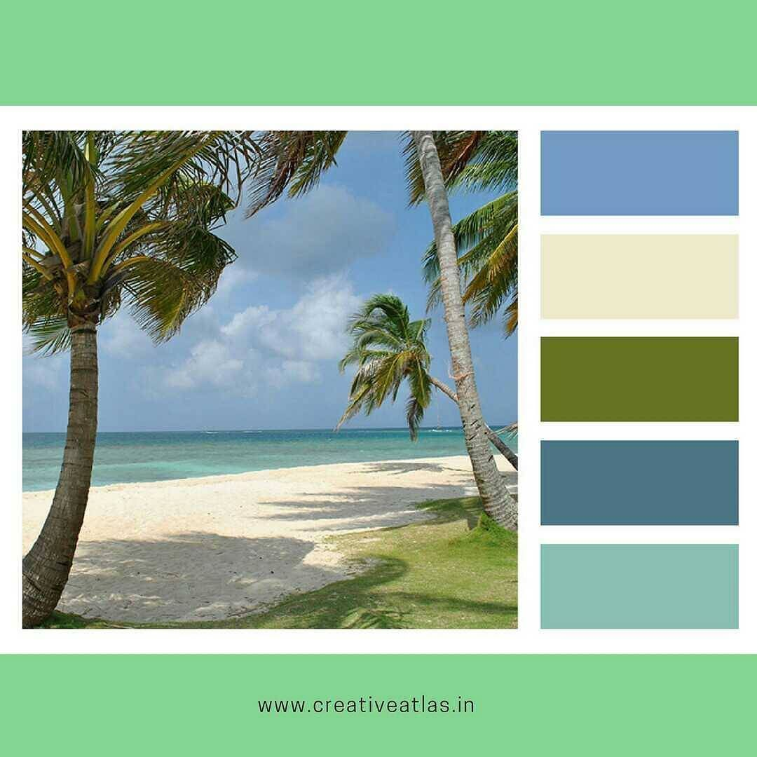 Beach color palette | Beach colors | Weekends remind us of beaches ...