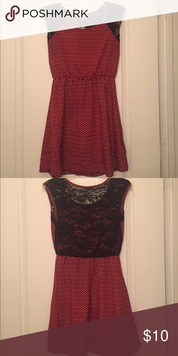 66b522a77f3 Charlotte Russe laced back dress Great condition  smoke free home. Red black.  Lace backing. Charlotte Russe Dresses Mini