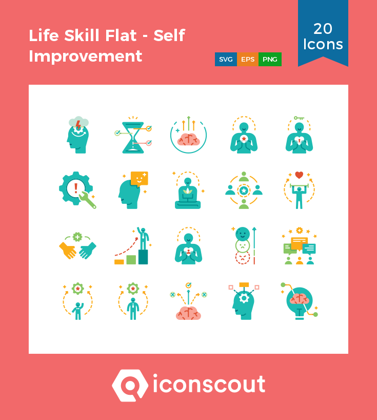 Download Life Skill Flat Self Improvement Icon Pack Available In Svg Png Eps Ai Icon Fonts Life Skills Icon Pack Self Improvement