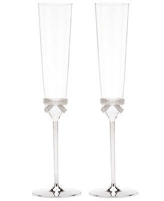 kate spade new york Set of 2 Grace Avenue Toasting Flutes - Shop All Glassware & Stemware - Dining & Entertaining - Macy's