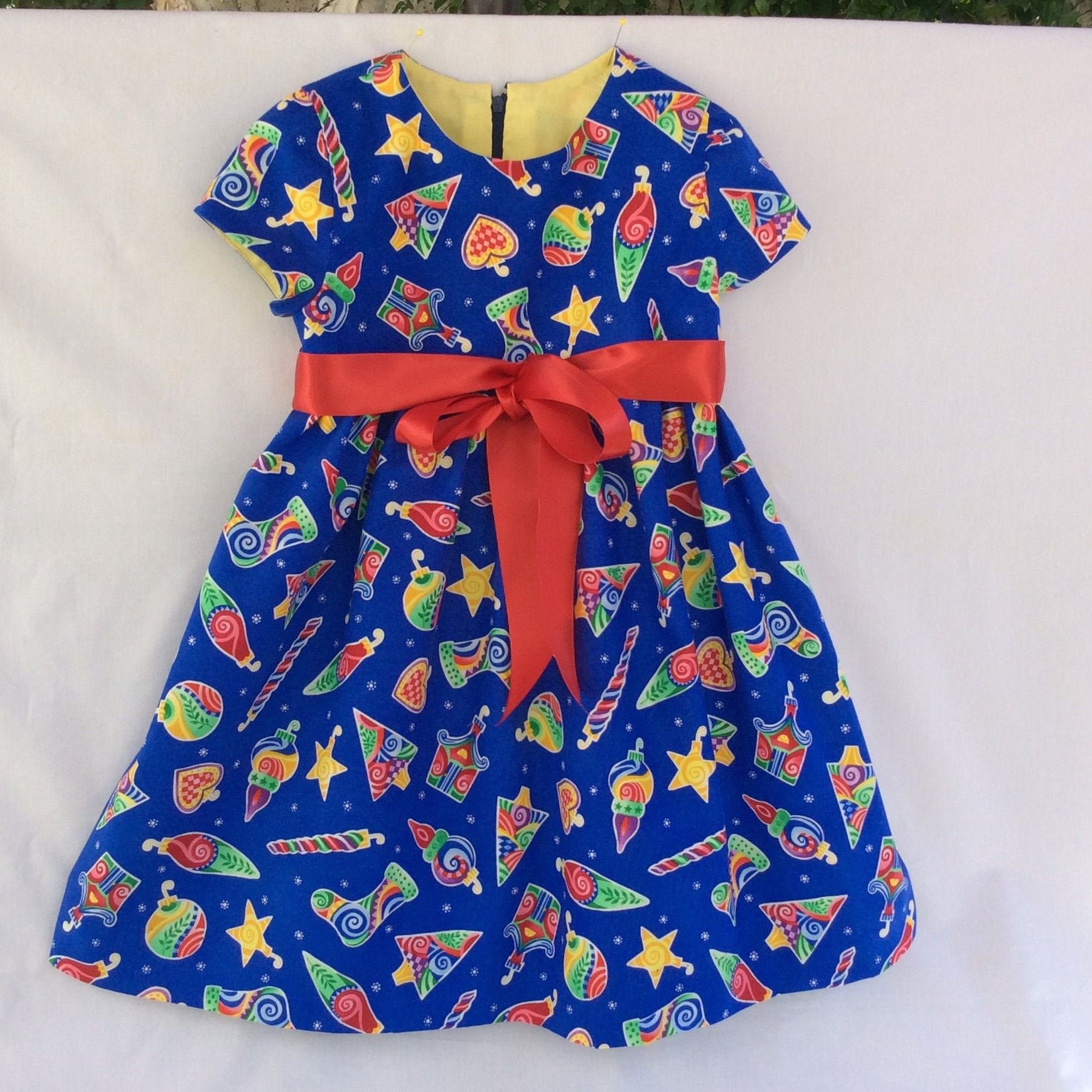 Girls Christmas Dress Blue Red Green Yellow Short Sleeves Lined Top Size 5t By The3nic Toddler Girl Party Dresses Girl Green Dress Toddler Party Dress [ 1740 x 1740 Pixel ]