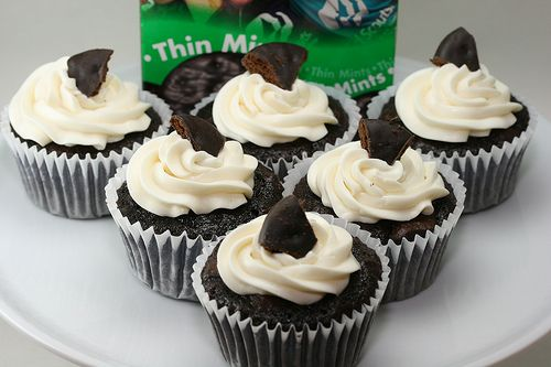 Girl Scout Thin Mint Cookie Cupcakes!  These are soooo yummy!
