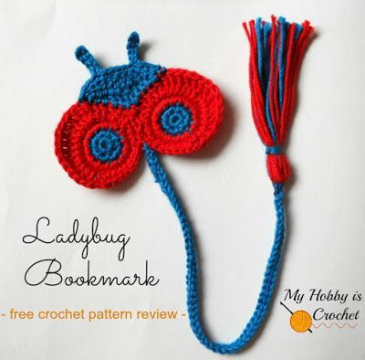 Bookmarks for Kids - 5 Free Crochet Patterns reviewed by My Hobby is ...