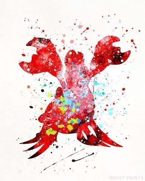 Sebastian, The Little Mermaid Print