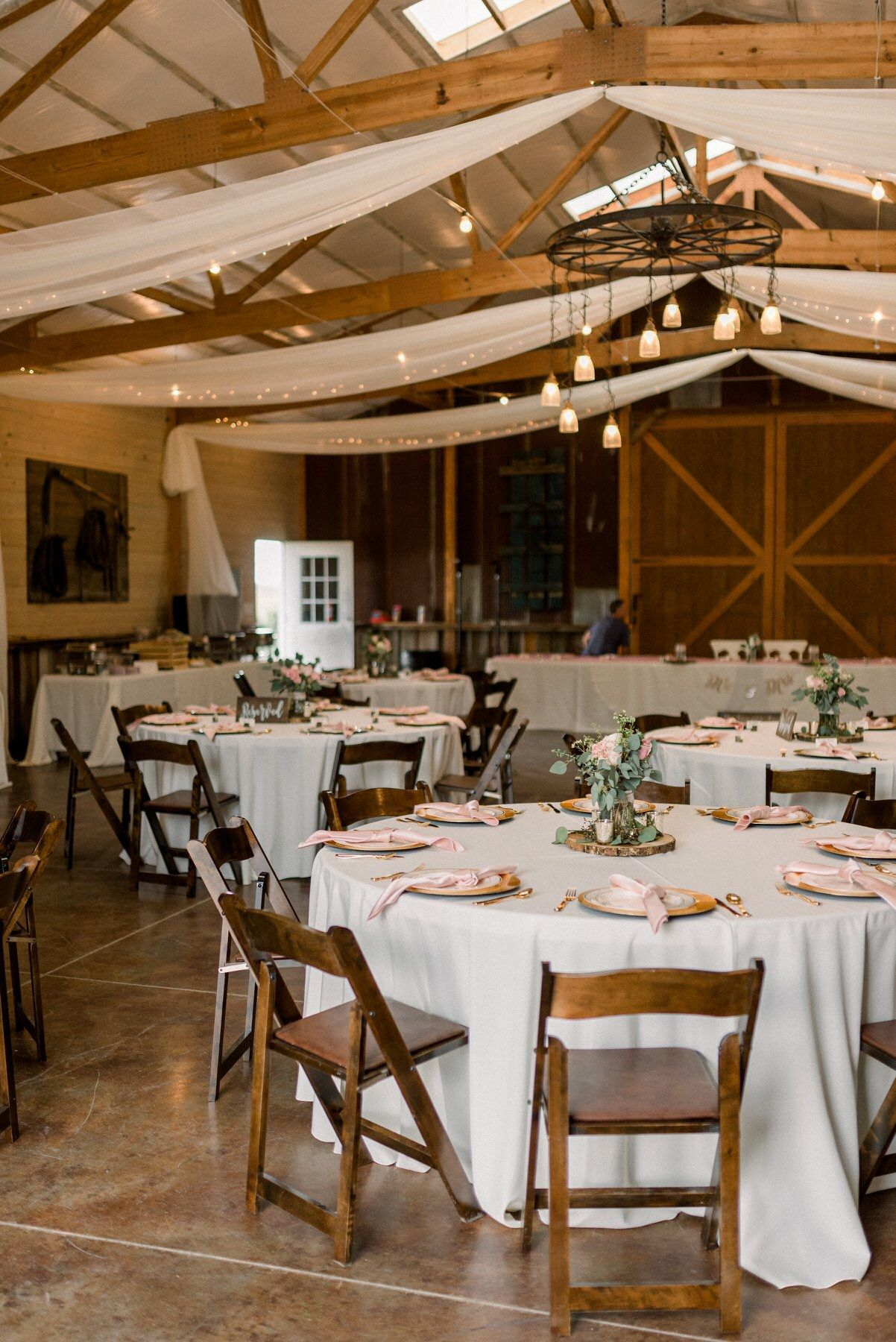 Reception Hall at Younger Ranch   Ranch style weddings ...