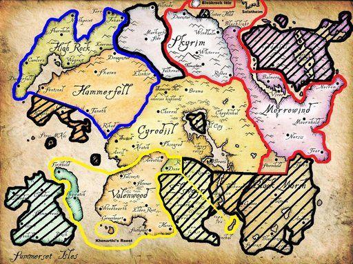 The Elder Scrolls Online Start Map Elder Scrolls Fantasy Rpg