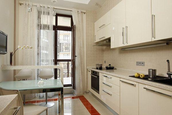 Кухня 9 кв м дизайн с балконом фото