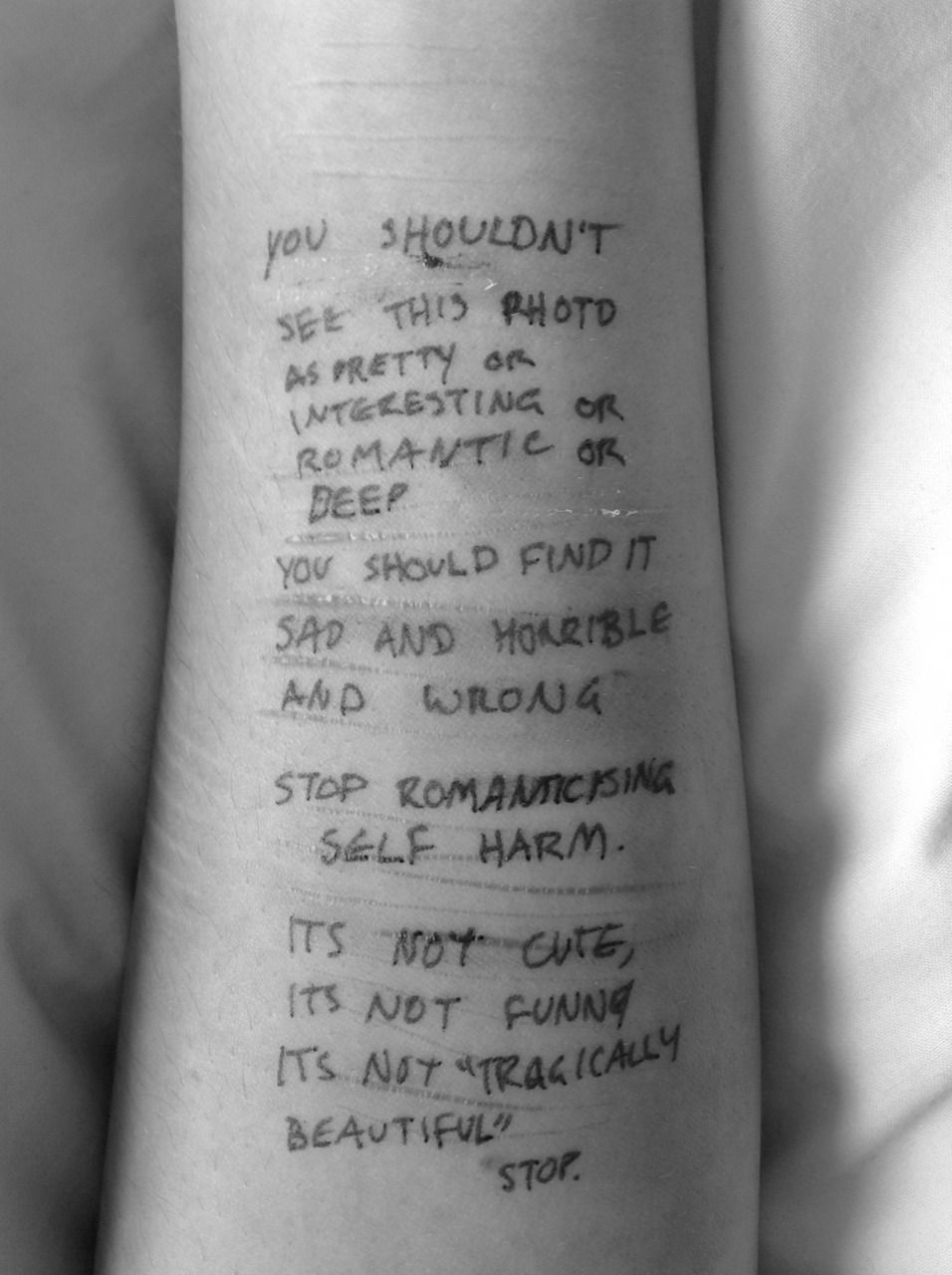 Emo quotes about cutting tumblr emo quote cutting sad arm - I Hope You Re Still Laughing Now Self Harm Pinterest Sad Life Happens And Mental Illness