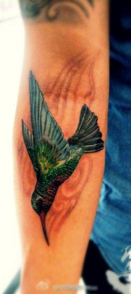 Humming#bird #tattoo design on the arm