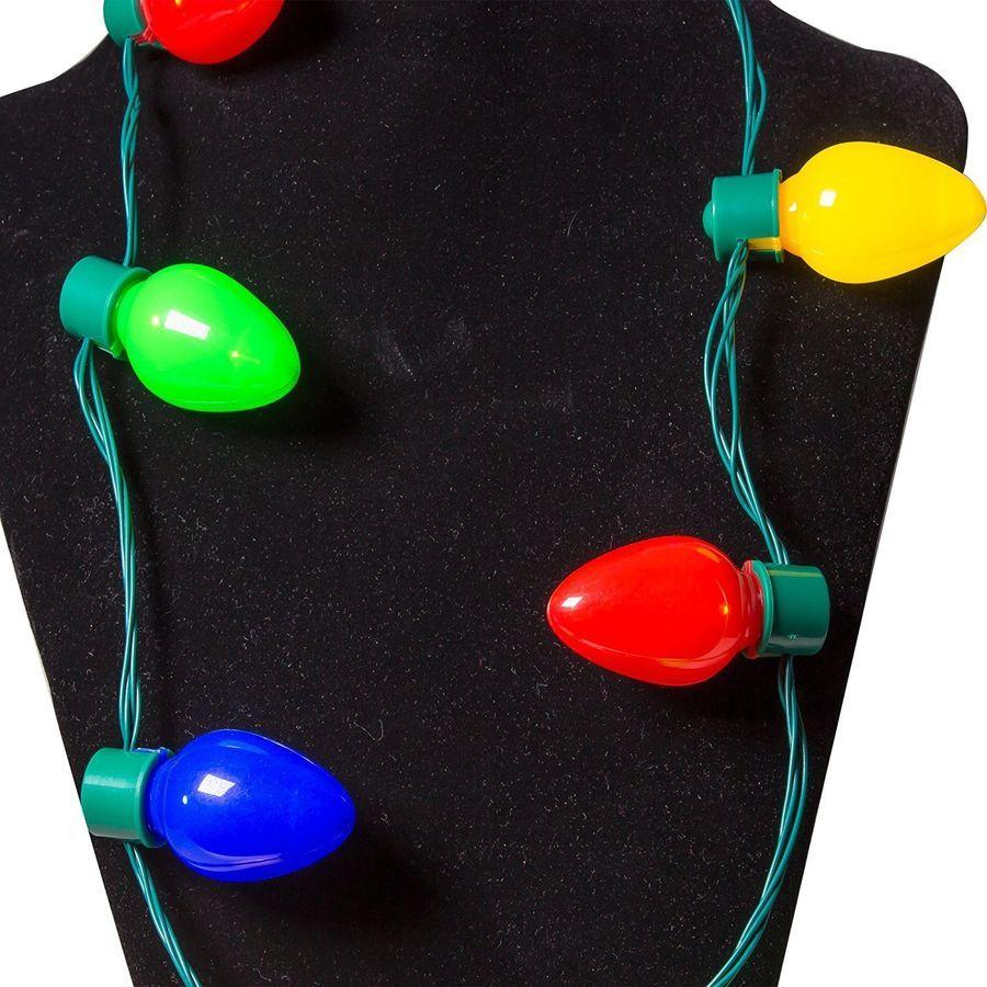 Hot Led Light Up Christmas Bulb Necklace Party Xmas Gift Ideas Necklace Jewelry 4549458096419 Ebay Christm Christmas Bulbs Led Lights Buy Led Lights