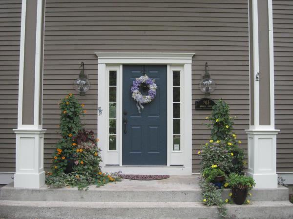 Front Door Paint Ben Moore Hale Navy Exterior Davenport Tan Trim