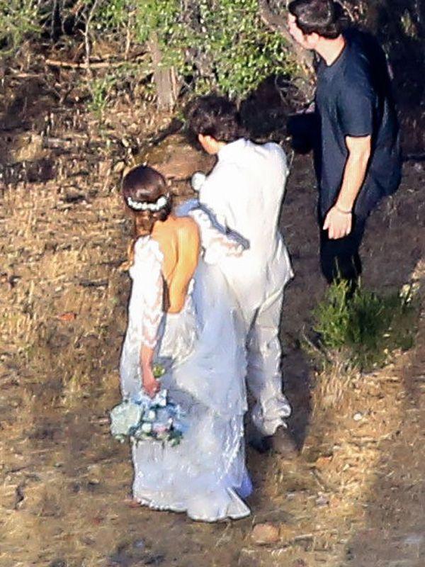 Nikki reed marries ian somerhalder see her gorgeous wedding dress actress nikki reed was married last weekend in a custom claire pettibone wedding dress junglespirit Images