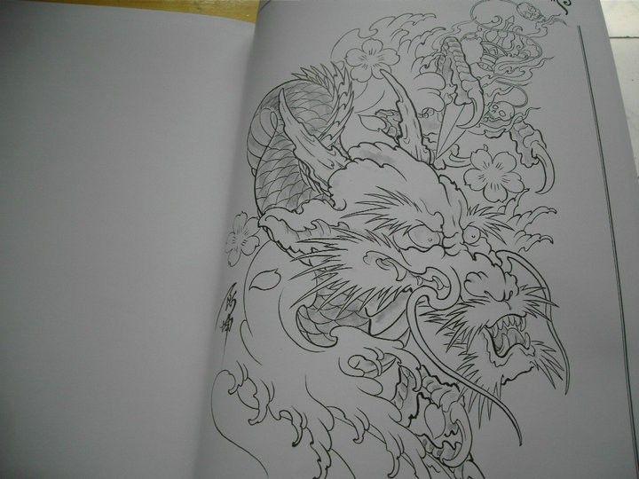 Top Tattoo Flash Japanese Style Sketch Book 16 Dragon Koi Buddhism Skull Flower Japanese Tattoo Chinese Dragon Tattoos Japanese Dragon