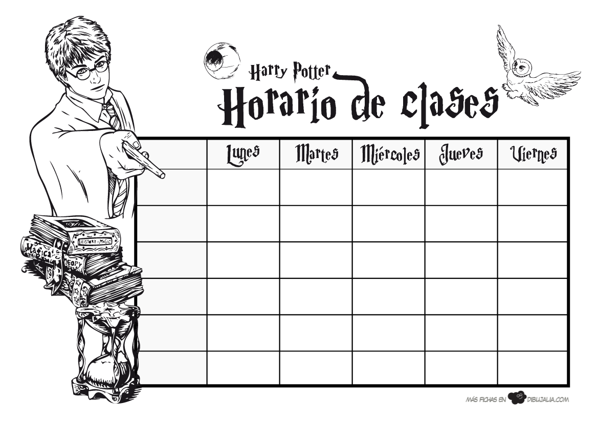 Horario escolar Harry Potter | mi personalidad | Pinterest | Horario ...