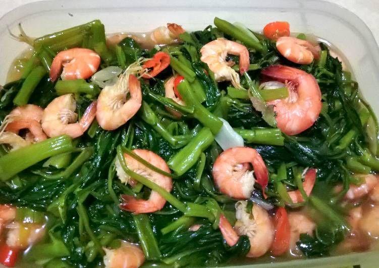 Resep Cah Kangkung Udang Oleh Retno Setia Resep Makan Malam Resep Kangkung