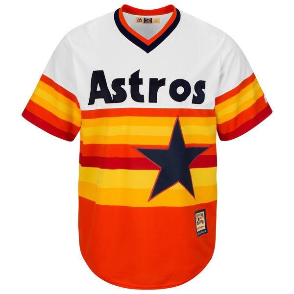 Houston Astros Cool Base MLB Custom Orange Throwback Jersey  http   jerseybarn.com 08c7876f8