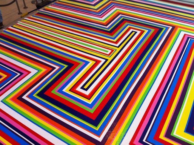 Cool Floor Designs cool vinyl tape floors | walyou | 46 e | pinterest | tape art
