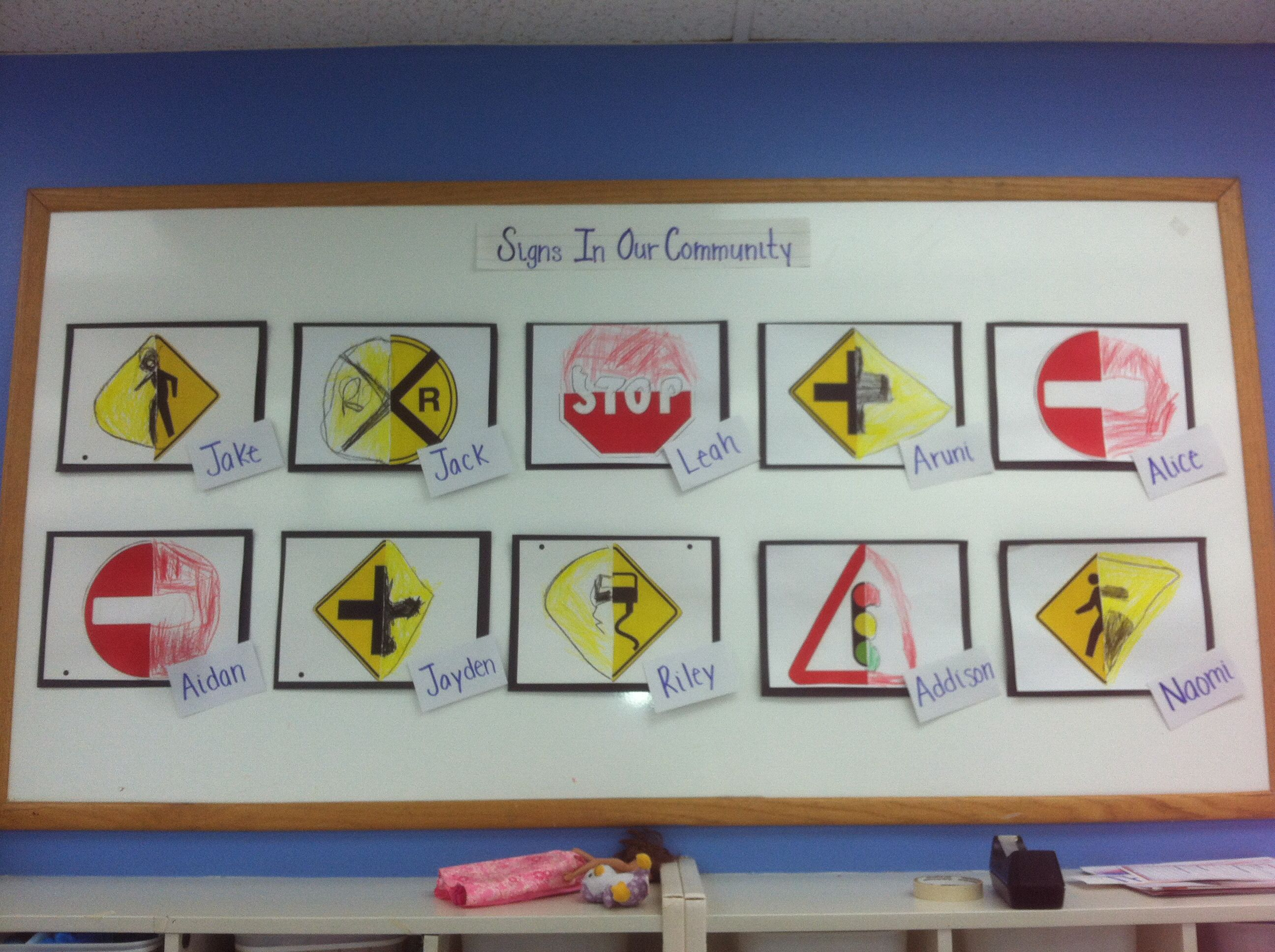 Traffic Signs/community art projects for preschoolers!! Complete the ...