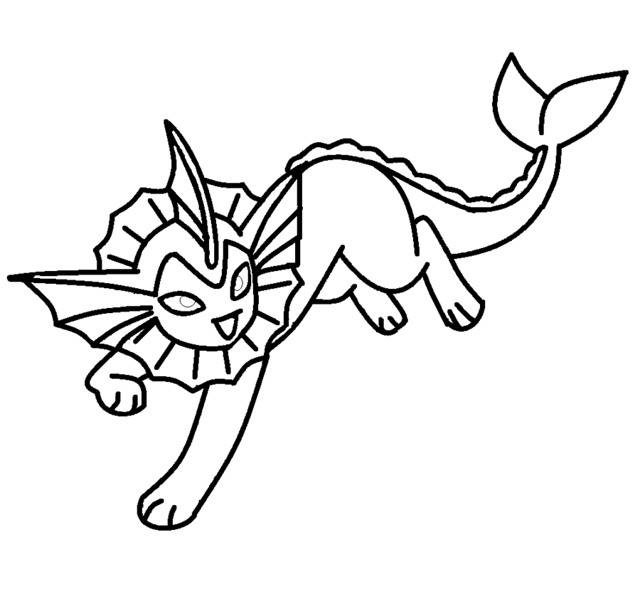 vaporeon template by shadowxmephiles on DeviantArt | Coloring 4 Kids ...