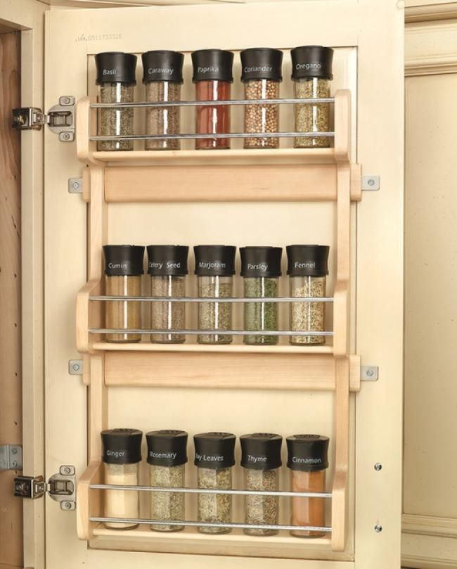 Best Spice Rack Cabinet Organizer Ideas | Cabinet organizers and Spaces