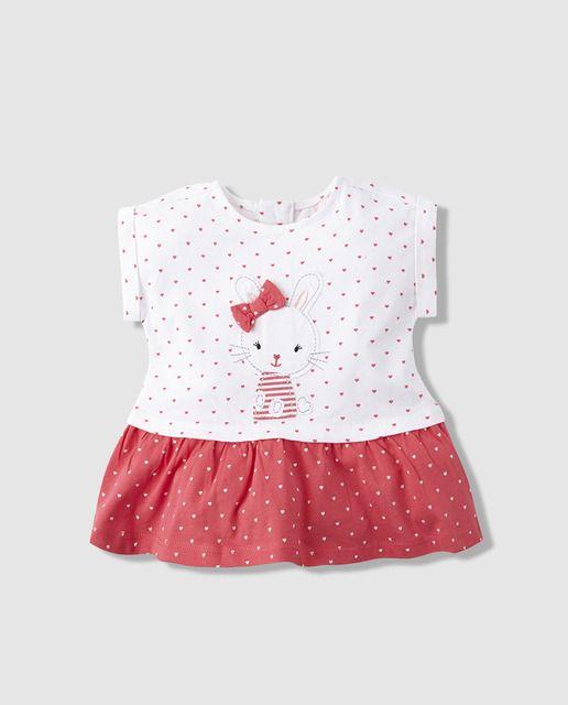 2475955a5 Vestido de bebé niña Freestyle con estampado de topos