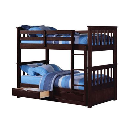 Best Twin Over Twin Storage Bunk Bed Ensemble Would Be White 400 x 300