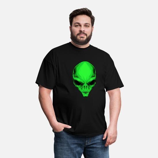 Alien head Party Halloween Men's T-Shirt - black #area51partyoutfit