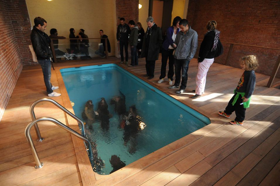 swimming pool installation by leandro erlich