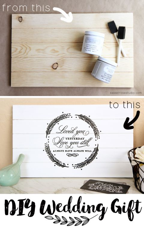 Wood Wedding Gift Ideas: Handmade Gift Ideas