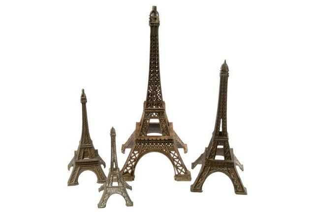 French Eiffel Tower Models, S/4