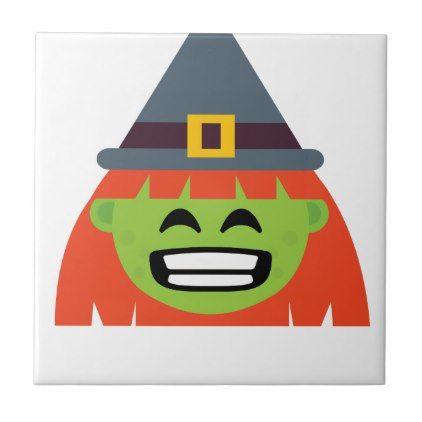 witch All Emoji Halloween Tile - halloween decor diy cyo personalize