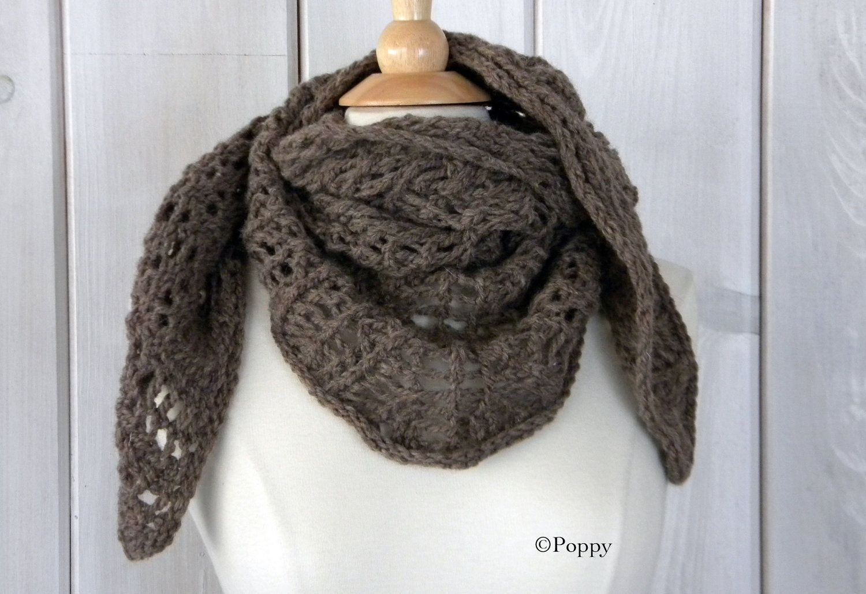 beautiful chunky handmade scarf